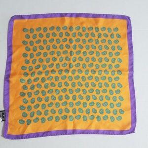 Ike Behar Silk  Mens Parsley Print Pocket Square